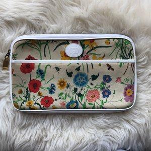 Vintage GUCCI Floral Makeup Bag